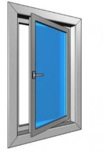 Поворотное, поворотно-откидное алюминиевое окно